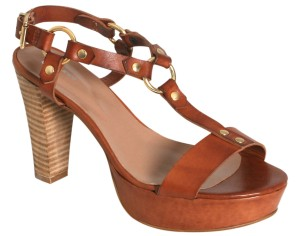 Rizzo High leather sandals cognac_wood