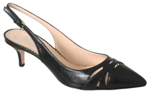 Rizzo Leather slingback pumps black