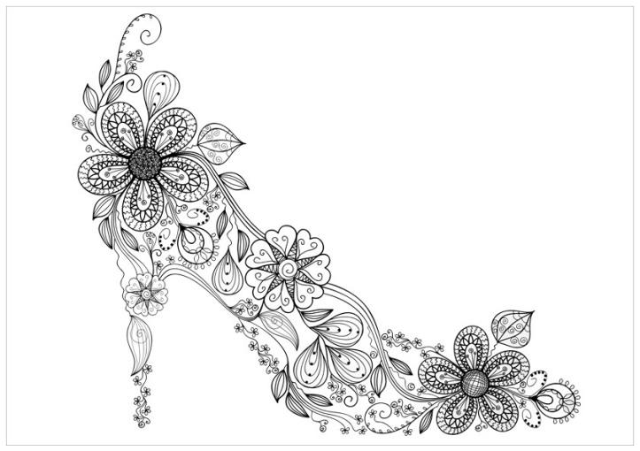 floral-shoe-coloring-page-print