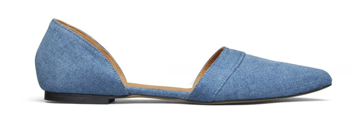 Ganni_Kimbely Denim_Flats_Art no - S0483_1399 SEK_1399 NOK_Material - Denim Fabric, Goat Leather Lining_Size - 36-47